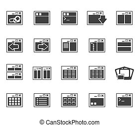 Application and Programming icons - Silhouette Application,...