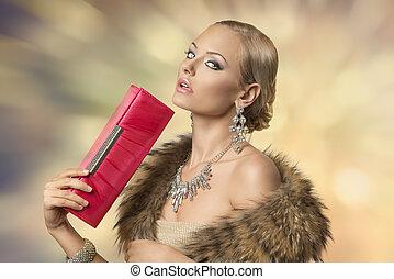 sensual elegant fashion girl