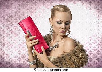 elegant aristocratic woman