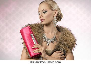 aristocratic fashion woman