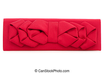 Woman red bag