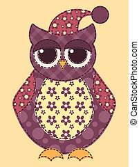 Application owl 2 - Application owl Cartoon patchwork...