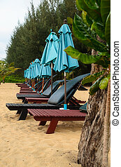 Beach chairs in the evening