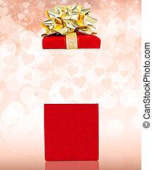 Valentines Gift Box Background - Surprise Valentines Gift...