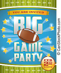 American Football Party Flyer - A flyer design perfect for...