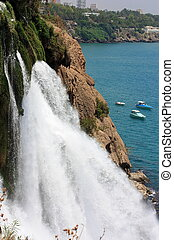 Waterfall. - Most beautiful waterfall of Antalya, located in...