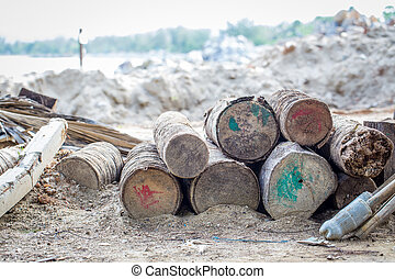Large timber confiscated beach