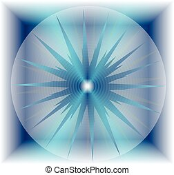 Abstract blue bubble star
