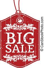 Big Sale - Vintage Label for Big Sale