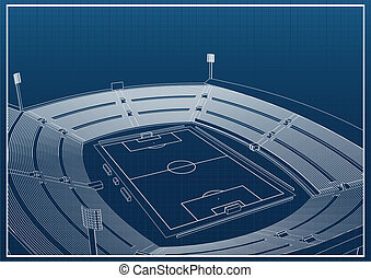 Football - soccer stadium 3d model