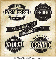 Labels - Vector Collection of Monoprint Vintage Labels for...