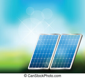 Solar Energy Illustration