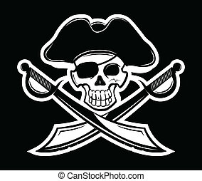 Pirate - Vector illustration of pirates symbol