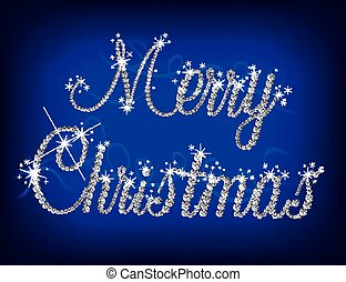 Illustration of Merry Christmas text with diamond Vector...