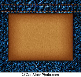Denim texture EPS10 vector