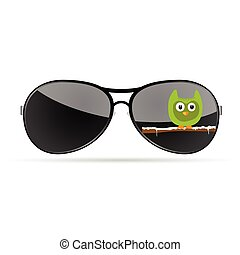 sunglasses with funny animal color vector