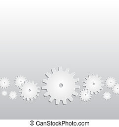 Background with paper gears. EPS10 vector