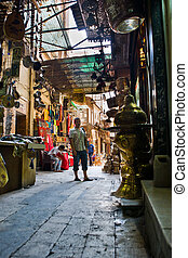 Street of Khan El Khalili - Scene from the Khan El Khalili...