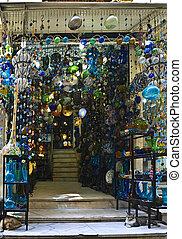 Khan el-Khalili glass shop - Scene from the Khan El Khalili...