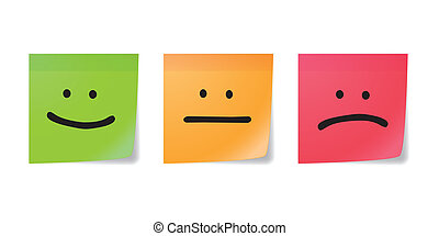 Posit with emoticons - Three posits with emoticons