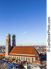 The Church of Our Lady (Frauenkirche) in Munich (Germany,...