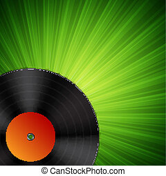 Background with vinyl record
