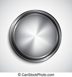 Chrome button EPS10 vector