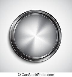 Chrome button. EPS10 vector