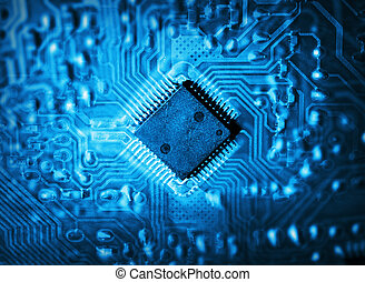 Futuristic integrated circuit. The concept of new...