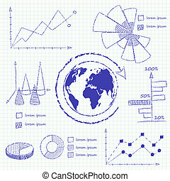 Collection of infographic charts