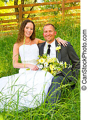 Wedding Couple Bride and Groom Portraits - Bride and groom...