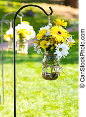 Wedding Day Floral Arrangements - Flowers of yellow and...
