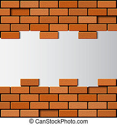 Brick wall EPS10 vector