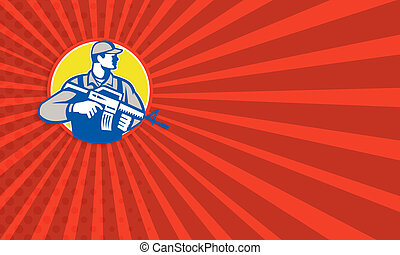 Security Consultant Mercenary Soldier - Business card...