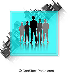 Illustration of business group with