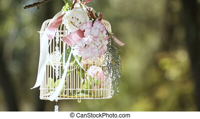 Bride with a decorative cage