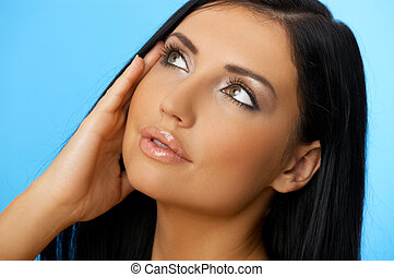 Black haired Beauty - Portrait of 20-25 years old beautiful...