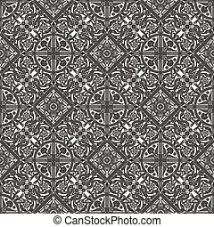 Vintage Middle Eastern Arabic Pattern - Vintage intricate...
