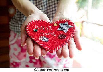 'Sweet Home' velvet sign