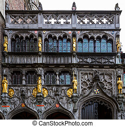 Basilica of the Holy Blood, Bruges, Belgium - facade of...