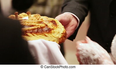Wedding loaf - Pinch off the bride and groom from the...