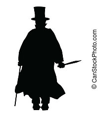 Jack the Ripper Silhouette - Jack the Ripper in silhouette...