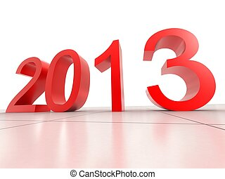 2013 New Year - digital illustration of 2013 New Year in...