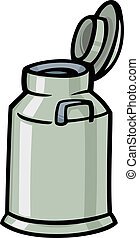 milk can or churn cartoon clip art - Cartoon Illustration of...