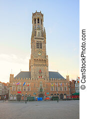 Belfry of Bruges, Belgium - famouse medieval belfry Belfort...