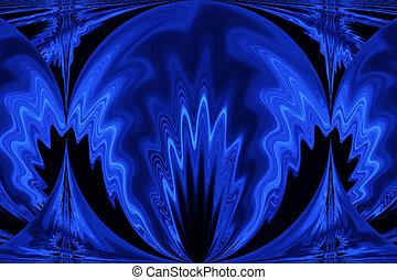 Blue Art - An image of blue lights blended and edited in...