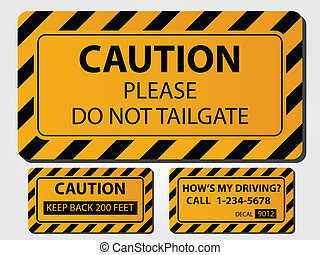 Caution Truck Signs - Caution Trick Signs