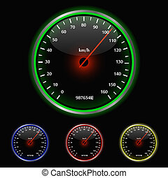 Colorful Speedometer Illustration