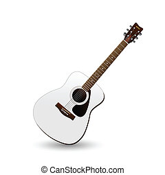 Guitar - Image of an acoustic guitar on a colorful...