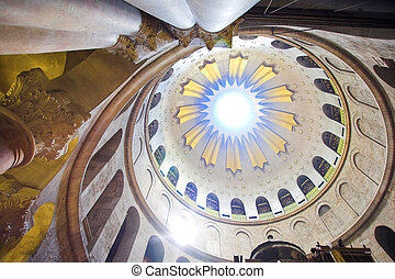 Dome in the church of the Holy Sepulchre, Jerusalem, Israel